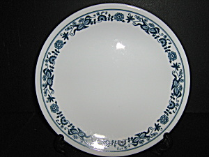 Vintage Corelle Luncheon Plate Old Town Blue