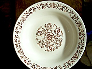 Oxford Brazil Oxf13 Brown Floral Soup Bowl