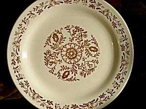 Oxford Brazil Oxf13 Brown Floral Dinner Plate