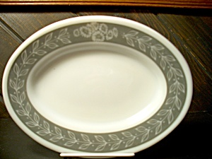 Vintage Pyrex Grecian Gray Oval Plate