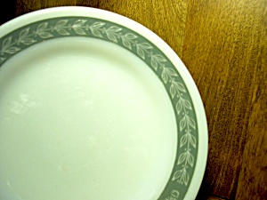 Vintage Pyrex Grecian Gray Round Dinner Plate