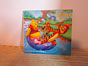 Calander Disney Whinnie The Pooh 2004 Mini Calender