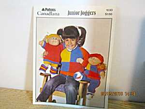 Patons Junior Joggers For Cabbage Patch Type Doll #1030