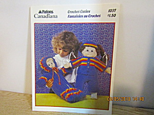 Patons Crochet Cuties For Cabbage Patch Type Doll #1037