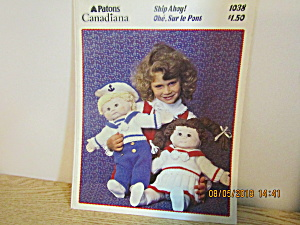 Patons Ship Ahoy For Cabbage Patch Type Doll #1038