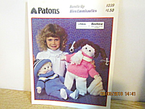 Patons Bundle Up For Cabbage Patch Type Doll #1039