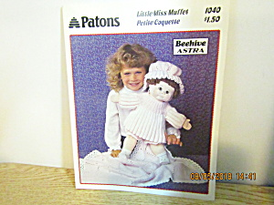 Patons Miss Muffet For Cabbage Patch Type Doll #1040