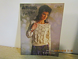 Patons Women's Tops Cotton Crochet A Pullover #17069