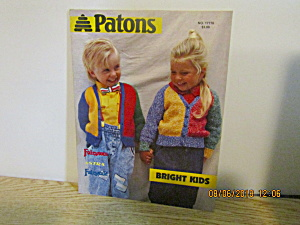 Patons Bright Kids Sweater Book #17776
