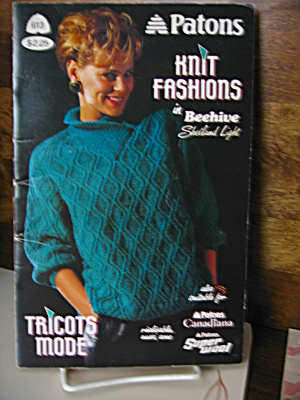 Patons Beehive Knit Fashions Booklet #613