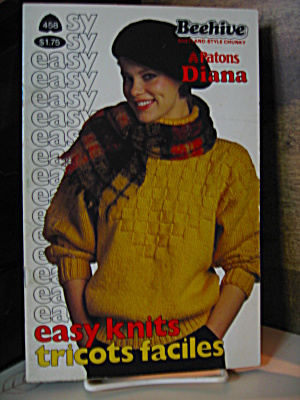 Beehive Patons Diana Easy Knits Booklet #458