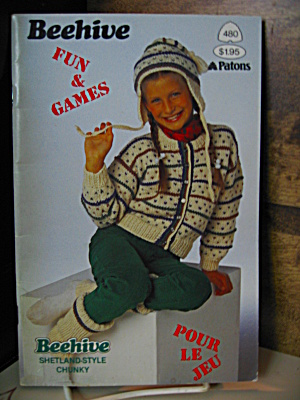 Patons Beehive Fun And Games Booklet #480