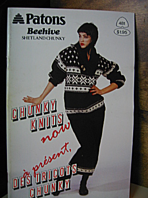 Patons Beehive Chunky Knits Now Booklet #481
