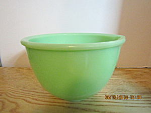Fire King Jadeite Green Spouted Small Mixing Bowl.