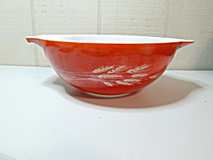 Vintage Pyrex Large Mixing Bowl Autumn Wheat