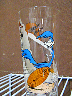 Vintage Pepsi Collectible Glass Road Runner/wilee.coyot