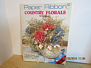 Plaid Book Paper Ribbon Country Florals #8484