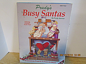 Plaid Craft Book Prudy's Busy Santas #8681