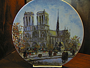 La Cathedrale Notre Dame Limited Edition Plate