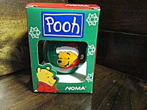Disney Pooh Glass Christmas 0rnament