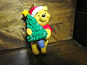 Disney Pooh Holding Tree Resin Christmas 0rnament