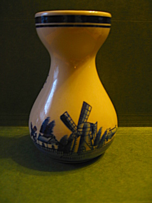 Dutch Holland Blue Cream Vase,