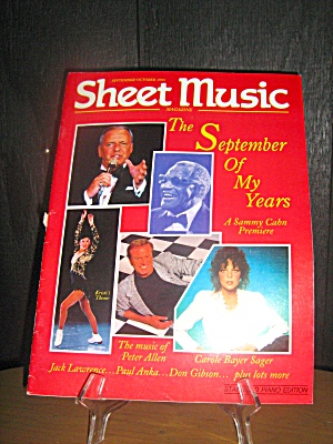 Sheet Music Magazine The September Of My Years