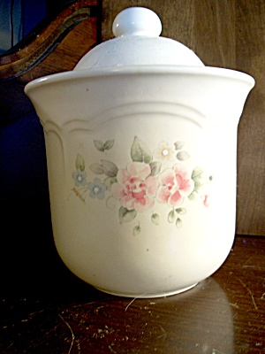 Pfaltzgraff Tea Rose Large Canister