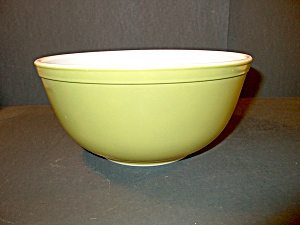 Vintage Pyrex Green Primary Color Stacking Bowl