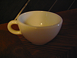 Pyrex Heavy White Coffee Cup