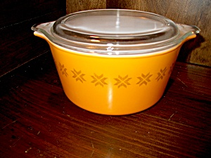 Vintage Pyrex Town And Country Casserole 1 Pint