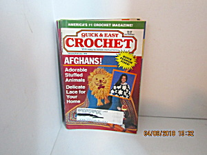 Vintage Craft Booklet Quick & Easy Crochet Jan/feb1995
