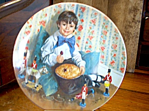 Mother Goose Collector Plate Little Jack Horner