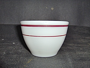 Pyrex Ruby Band Open Suger Bowl