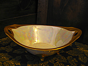 Rs Tillowitz Silesia Footed Oval Opalescent Bowl