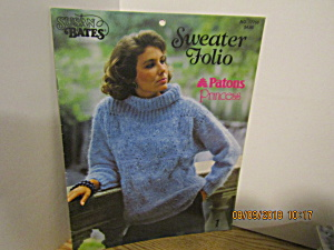 Susan Bates Patons Sweater Folio Princess #17750