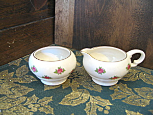 Sandland Ware Miniture Creamer And Open Sugar Bowl