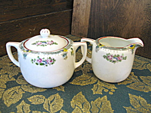 Japan Covered Sugar Bowl And Creamer Set
