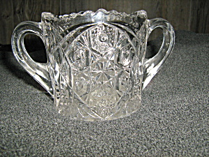 Vintage Pressed Glass Open Sugar Bowl
