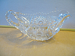 Vintage Pressed Glass Large Creamer/ Gravy Dish