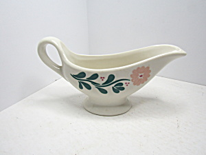 Vintage Syracuse China Pink Floral Gravy Boat