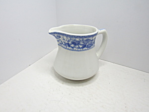 Vintage Syracuse China Blue Floral Rim Creamer