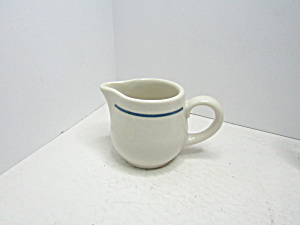 Vintage Syracuse China Small Blue Band Creamer