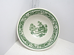 Vintage Syracuse China Mayflower Green Cereal Bowl
