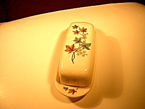 Syracuse China Woodbine Butter Dish