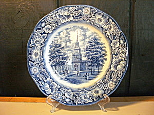 Liberty Blue Historic Colonial Scene Dinner Plate