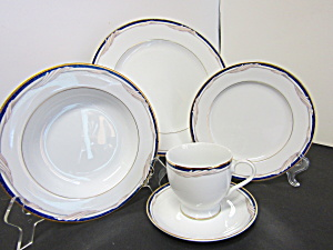 Stokes Formal Golden Swirl 20 Piece Set Of Dinnerware