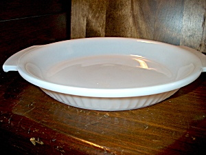 Vintage Fire King Anchor-white Pie Plate