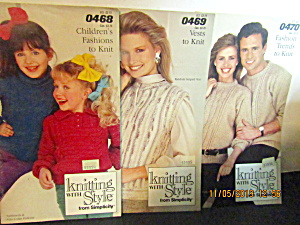 Simplicity Booklets Knitting With Style Set Of Three