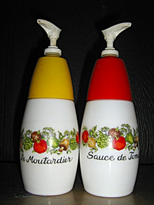 Spice Of Life Mustard And Ketchup Dispencers/holders